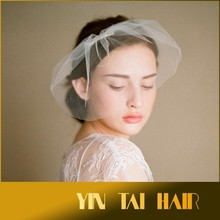 Fast Shipping 2015 New Arrival Wedding Whiter Hair Fascinator/wedding headpiece /Wedding Veil Bridal Veil Birdcage Veils