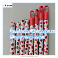 wood threading tools / wood broom stick with flower pvc coated