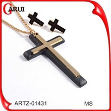 black metal jewellery heavy bridal jewelry sets lead and nickel safe cross fashion jewelry set