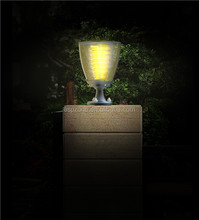 Plastic Mini Cheap Solar Light With Timer For Fence Post Cap