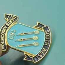scroll shaped souvenir anniversary lapel pins