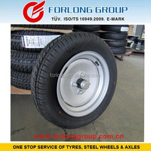 TRAZANO brand ECE certificate 155/70R13 4/98 agricultural trailer axle and wheels