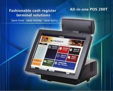 Supermarket casher register with scanner