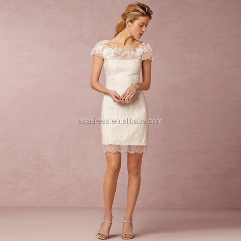 Bhd25 western lace appliqued party dress beach casual bride gown w26 1g junglespirit Choice Image