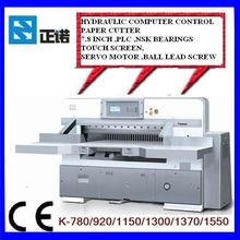 """7.8"""" programado de papel guillotina máquina k920/1150/1300/1370"""