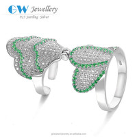 Alibaba Gold Suppliers Wholesale Crystal Fashion Jewelery New Products Model 925 Silver Ring