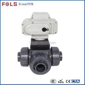 물 시스템 2 인치 pvc 볼 밸브 스테퍼 모터 밸브