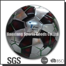 can sport Silver shine foamed pvc football