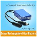 12v 12Ah lithiumbattery mah para las tiras de led, los sistemas de circuito cerrado de televisión