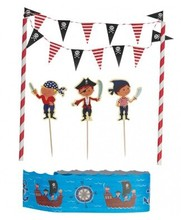 Pirate fun mini bunting cake set,yiwu decorative party supply manufacture