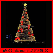 led light Hot Sell artificial 11ft spiral christmas tree Led Spiral Christmas Tree