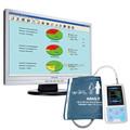 2015 nouvelle couleur grand écran lcd moniteur de pression artérielle ambulatoire avec free logiciel d'analyse