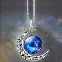 New style moon start pendant necklace,luminous necklace(SWTPR813)