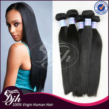 7 Days Return Guarantee quality human hair remy double drawn thick hair extensions 7a brazilian unprocessed virgin hair