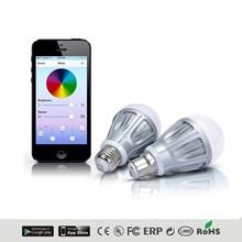 2014 new ablibaba product WiFi control e27 7w led bulb smart lighting/internet remote control 7w led smart lighting