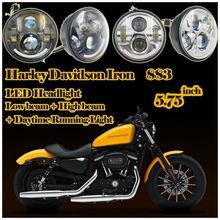 5,75 pulgadas de faros LED para Harley motocicleta