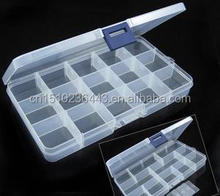 Wholesale logo printed plastic storage box with dividers