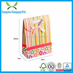 Guangzhou eco-friendly recycled foldable paper bag made in China
