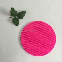 2015 Factory price circle shape skid resistance silicone pan baking mat set for family