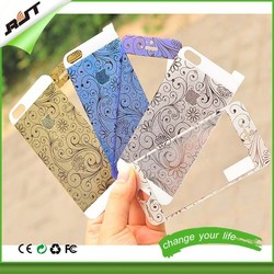 custom design printing accepted embossed color tempered glass screen protector for iphone 5