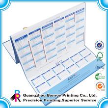 2014 Customized design and high quality calendar /high quality photo wall calendar printing.