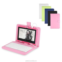 7 Inch Mid Keyboard Flip Stand Case Cover USB Keyboard Leather Case
