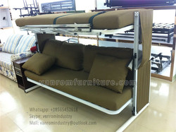 Capsule cheap murphy bed MDF wood twin full queen king size combo vanrom furniture