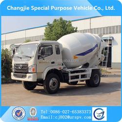 China truck Foton concrete mixer truck for sale, high quality Foton small concrete mixer truck
