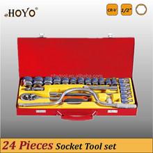 """1/2"""" Dr.24PCS Socket Set/High Quality Standard Length Socket Set"""