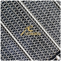 High Quality decorative wrought iron panels steel wire mesh belt