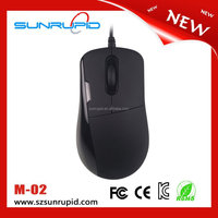 Black mouse wired type computer standard mouse