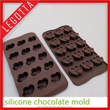 2015 animal shape multi shapes silicone chocolate mold for kid
