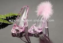 high quality transparent high heel shoes mobile phone holder