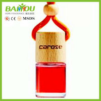 Latest products in market new design hanging car air freshener glass bottle