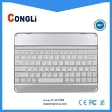 Best price Aluminium bluetooth slim keyboard for iPad air,perfectly fits for iPad air