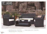 modern european sectional PE rattan sofa sets for living room TF-6045