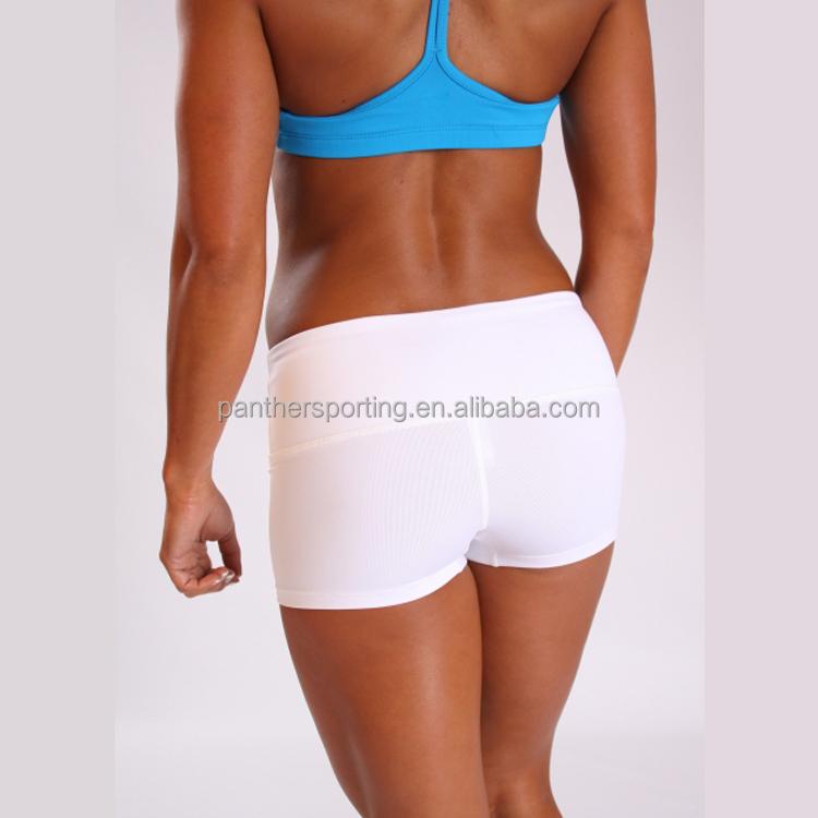 Gros Blanc Compression Shorts De Course Shorts Shorts De