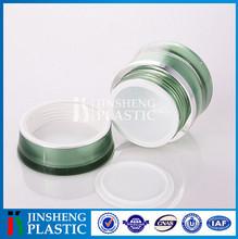 Best seller CNAS certificated Plastic Face round acrylic cream jar cosmetic packaging jar