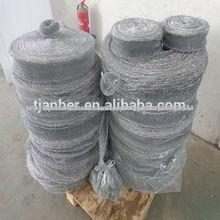 Galvanizado alambre de púas para rollo de metal esponja/galvanizado de lana de acero de malla de alambre
