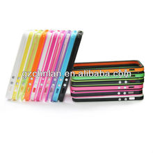Dual Color TPU Bumper Case for iphone 5G with Volume Button