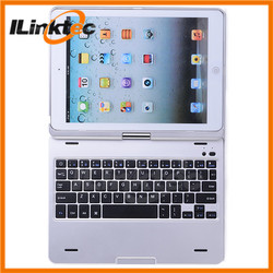 360 degree rotation Bluetooth Keyboard case for ipad 5 ipad air keyboard top case for macbook a1181