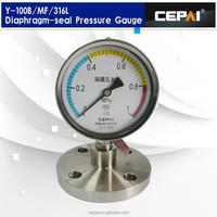 Scale dial 100mm Diaphragm seal pressure gauge