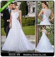 Love Forever 2015 High Quality Egypt Covered Back Wedding Dresses