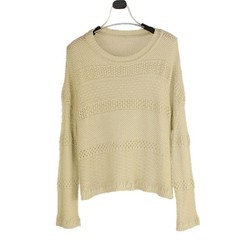 Fancy knit tuck stitch hollow rib Loose knit pullover shirt