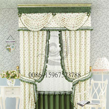 latest living room textile fabric design indian style window curtains