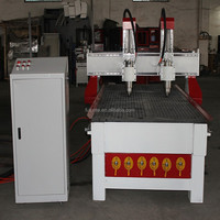 woodworking 2 spindles CNC carving and cutting machine CNC router