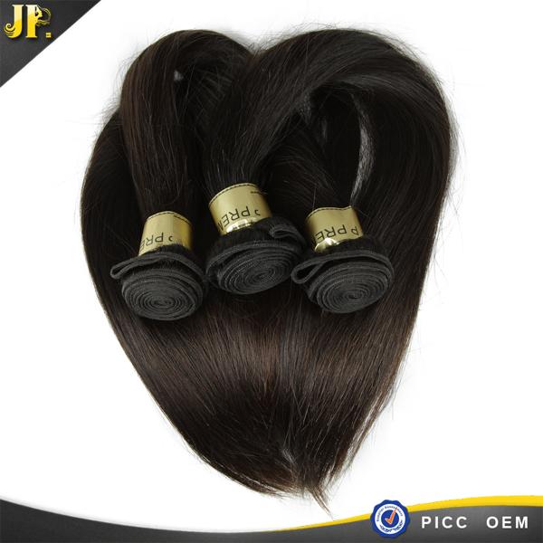 JP livraison gratuite excellente qualité soyeux staight cheveux humains tisse