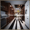 China cheap black marble tile and slab in stock