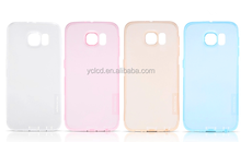 New transparent color tpu pc case for Samsung s6 edge