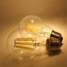 CE ROHS LED A60 E27 4W 6W 8W 3000K Globe LED Filament Bulb